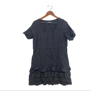 Freaky Flax black ruffle skirt dress size medium